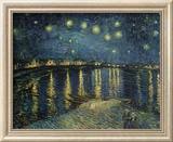 Starry Night Over the Rhone, 1888 Gerahmter Giclée-Druck von Vincent van Gogh