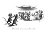 """Oh, Lord! Not another wine-and-cheese party!"" - New Yorker Cartoon Premium Giclee Print by Eldon Dedini"
