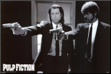 Pulp Fiction Kunstdruk geperst op hout