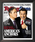 Jon Stewart and Stephen Colbert, Rolling Stone no. 1013, November 2006 Framed Photographic Print