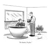 """No thanks, I'm fine."" - New Yorker Cartoon Premium Giclee Print by Tom Cheney"
