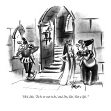 """He's, like, 'To be or not to be,' and I'm, like, 'Get a life.' "" - New Yorker Cartoon Premium Giclee Print by Lee Lorenz"