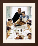 """Freedom From Want"", March 6,1943 Framed Giclee Print by Norman Rockwell"