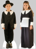 Pilgrim Boy and Pilgrim Girl set Cardboard Cutouts