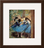 Dancers in Blue, c.1895 Framed Giclee Print by Edgar Degas