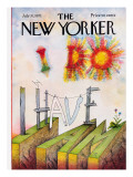 The New Yorker Cover - July 31, 1971 Premium Giclee Print by Saul Steinberg