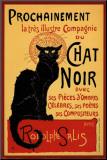 Vintage poster van Zwarte kat: Chat Noir, ca.1896 Kunstdruk geperst op hout