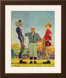 """Coin Toss"", October 21,1950 Framed Giclee Print by Norman Rockwell"