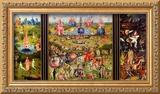 O jardim das delícias terrenas, cerca de 1500 Impressão giclée emoldurada por Hieronymus Bosch