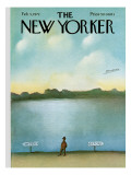 The New Yorker Cover - February 5, 1972 Premium Giclee Print by Saul Steinberg