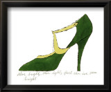 Shoe, c.1955 (Green and Yellow) Prints by Andy Warhol