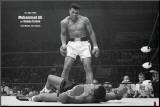 Bokser Muhammad Ali tegen Sonny Liston Kunst op hout