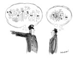 A policeman giving directions has a clear mental image of them, but the ma… - New Yorker Cartoon Premium Giclee Print by James Stevenson