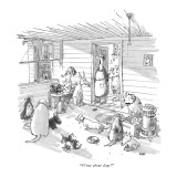 """Write about dogs!"" - New Yorker Cartoon Premium Giclee Print by George Booth"