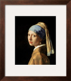 Girl with a Pearl Earring, circa 1665-6 Framed Giclee Print by Jan Vermeer