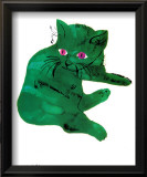 Chat vert, vers 1956 Affiches par Andy Warhol