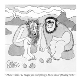 """There—now I've taught you everything I know about splitting rocks."" - New Yorker Cartoon Premium Giclee Print by Gahan Wilson"