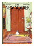 The New Yorker Cover - February 4, 1974 Premium Giclee Print by George Booth