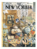 The New Yorker Cover - July 17, 1995 Premium Giclee Print by Peter de Sève