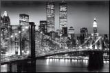 New York Manhattan Black - Berenholtz Mounted Print