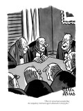 """Then it's moved and seconded that the compulsory retirement age be advanc…"" - New Yorker Cartoon Premium Giclee Print by Peter Arno"