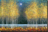 Lune bleue Reproduction transférée sur toile par Melissa Graves-Brown