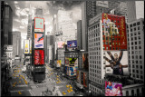 NEW YORK - Times square Aerial Mounted Print