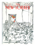 The New Yorker Cover - January 5, 1981 Premium Giclee Print by George Booth
