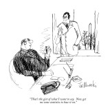 """That's the gist of what I want to say. Now get me some statistics to base…"" - New Yorker Cartoon Premium Giclee Print by Joseph Mirachi"