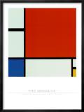 Komposition mit Rot, Blau, Gelb Kunstdrucke von Piet Mondrian