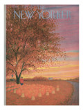 The New Yorker Cover - October 31, 1953 Premium Giclee Print by Edna Eicke