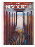 The New Yorker Cover - August 16, 1958 Premium Giclee Print by Edna Eicke