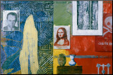 Racing Thoughts, 1983 Impressão montada por Jasper Johns