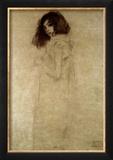 Porträt einer jungen Frau, 1896-97 Gerahmter Giclée-Druck von Gustav Klimt