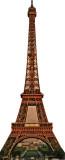 Tour Eiffel Silhouette en carton