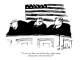 """Do you ever have one of those days when everything seems un-Constitutiona…"" - New Yorker Cartoon Premium Giclee Print by Joseph Mirachi"
