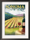 Sonoma County, California Wine Country Posters