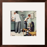 """Before the Shot"" or ""At the Doctor's"", March 15,1958 Framed Giclee Print by Norman Rockwell"
