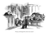 """The jury will disregard the witness's last remarks."" - New Yorker Cartoon Premium Giclee Print by Lee Lorenz"