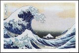 The Great Wave at Kanagawa , c.1829 Mounted Print by Katsushika Hokusai