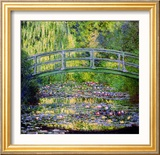 The Waterlily Pond with the Japanese Bridge, 1899 Framed Giclee Print by Claude Monet