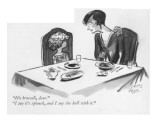 """""""It's broccoli, dear.""""--""""I say it's spinach, and I say the hell with it."""" - New Yorker Cartoon Giclee Print by Carl Rose"""