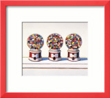 Three Machines, 1963 Plakat autor Wayne Thiebaud