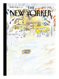 The New Yorker Cover - January 14, 2008 Premium Giclee Print by Jean-Jacques Semp&#233;