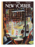 The New Yorker Cover - February 5, 1996 Premium Giclee Print by Jean-Jacques Semp&#233;