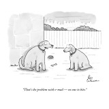 """That's the problem with e-mail — no one to bite."" - New Yorker Cartoon Premium Giclee Print by Leo Cullum"