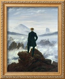The Wanderer Above the Sea of Fog, 1818 Framed Giclee Print by Caspar David Friedrich
