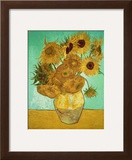 Sunflowers, c.1888 Framed Giclee Print by Vincent van Gogh