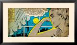 Marvel Comics Retro: Love Comic Panel, Alone at Window under Moonlight (aged) Print