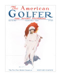The American Golfer June 16, 1923 Stretched Canvas Print by James Montgomery Flagg